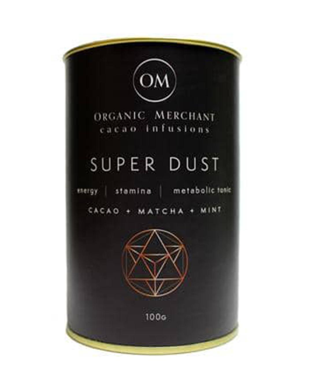 Tin of matcha powder