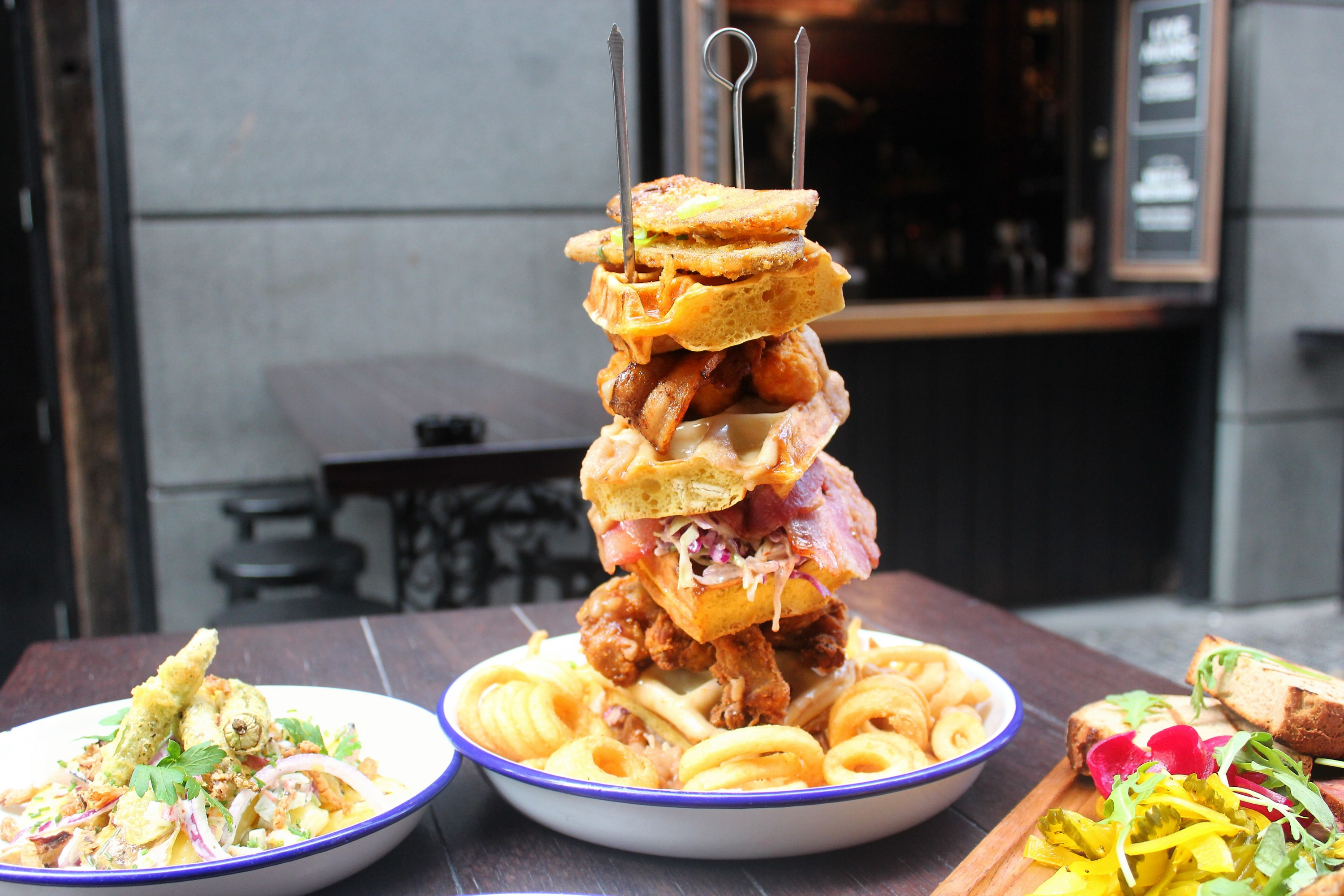 britomarts orleans restaurant is serving a waffle stack