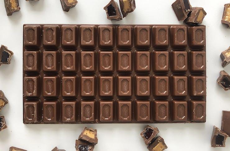 a block of chocolate