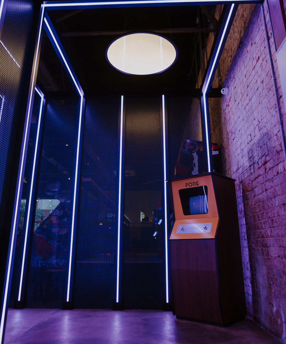 Pong machine at Palace Arcade Fremantle