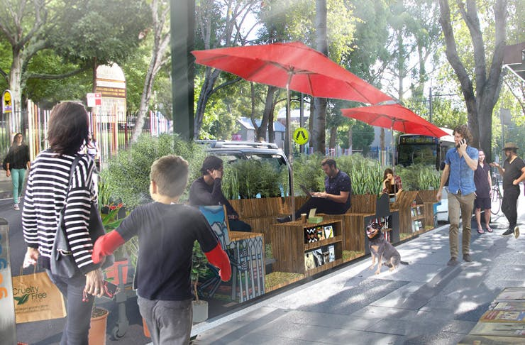 Glebe urban parklets