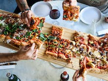 Stop Everything, This Authentic Italian Joint Is Serving One-Metre Pizzas And Cheese Wheel Pasta