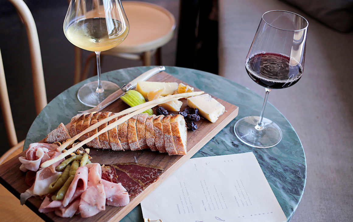 Wine and food from Pep's Wine Bar