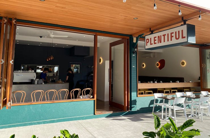 The exterior of Plentfiul Cafe