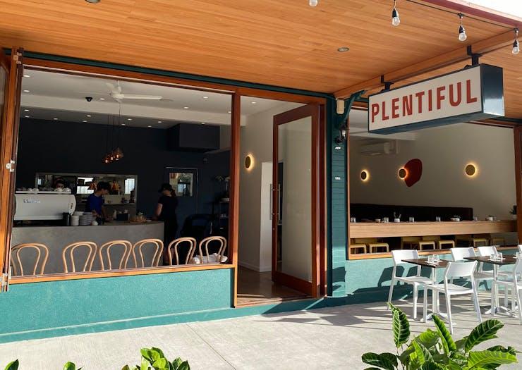 The exterior of Plentfiul Cafe