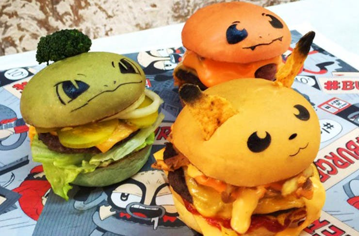 pokemon burger pop up sydney