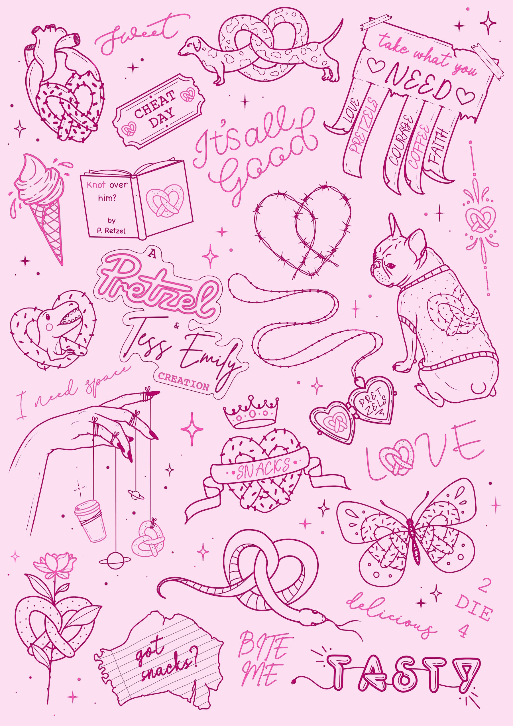 Pretzel Tess Emily Tattoo Choices