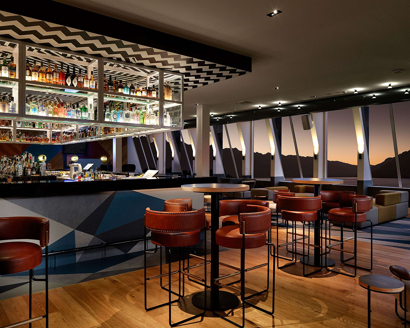 The gorgeous bar at the QT hotel in Queenstown.