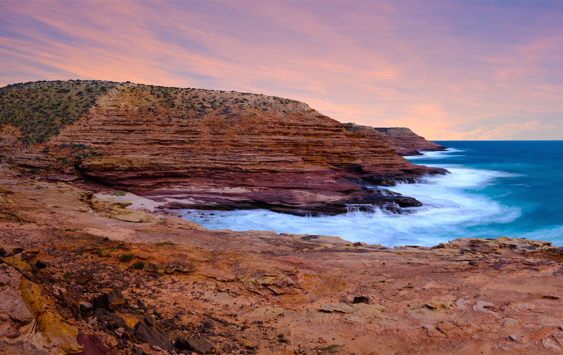 Red Bluff in Kalbarri at Sunset