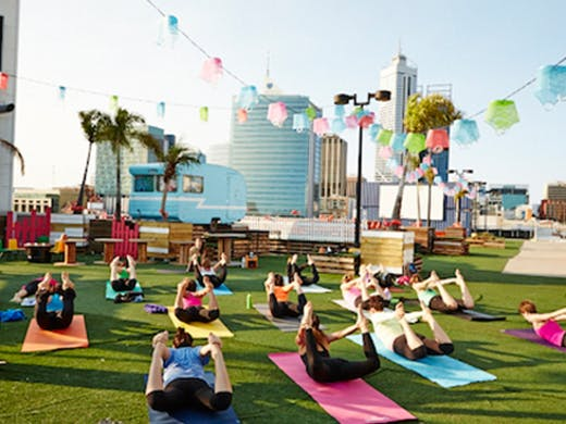Rooftop Yoga Northbridge Yoga in Perth