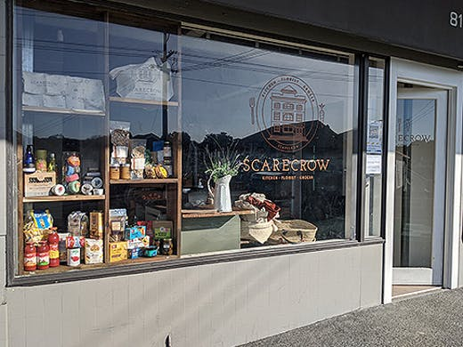 The exterior of the new Scarecrow Store in Mount Eden.