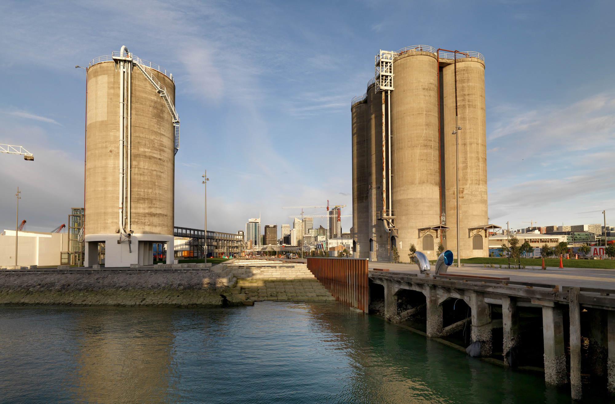 The beautiful silo park on a sunny day.