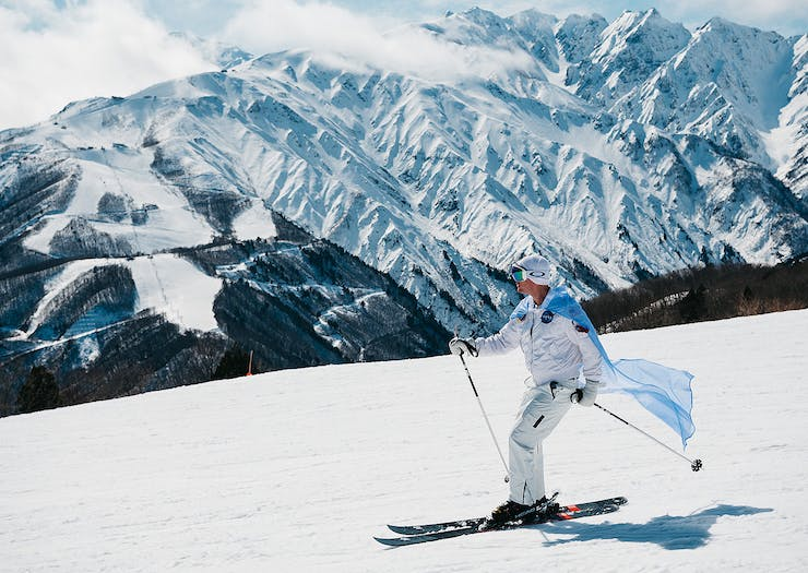 Skiing on the Slopes at Snow Machine