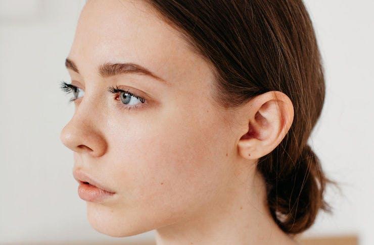 a fresh-faced woman