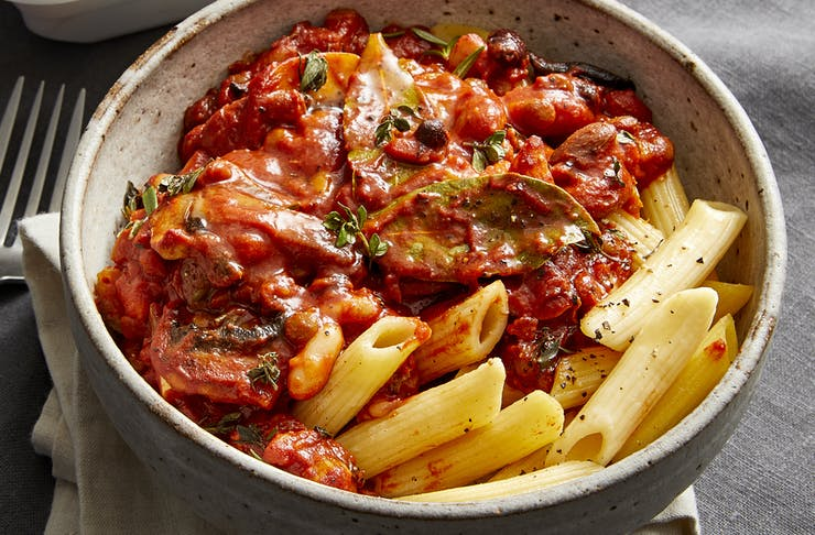 A steamy bowl of pasta.