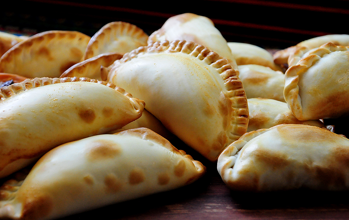 Close up view of empanadas at South American Oven in Commercial Bay.
