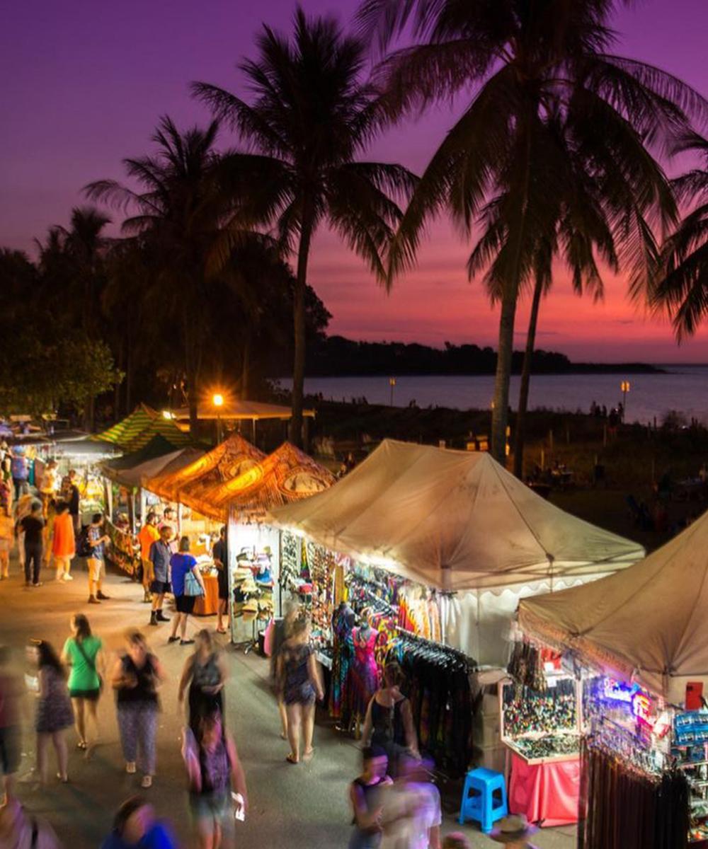 The bustling Mindil Beach Sunset Markets