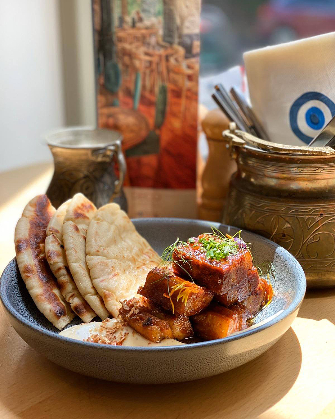 Sticky Pork belly at Deco Eatery