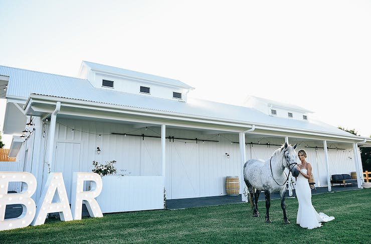 Gold Coast wedding venue Summergrove Estate Barn