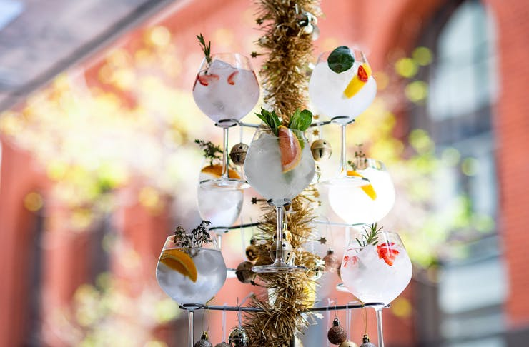 Boozy Christmas Tree from The Flour Factory