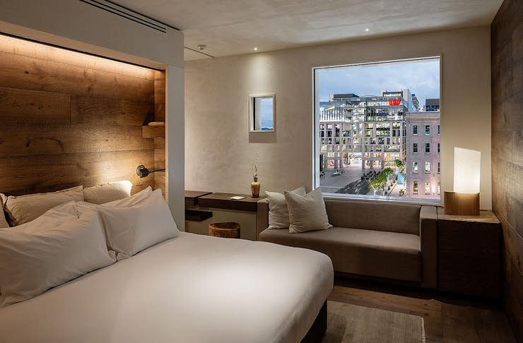 The Takutai room overlooking the square in the heart of Britomart.