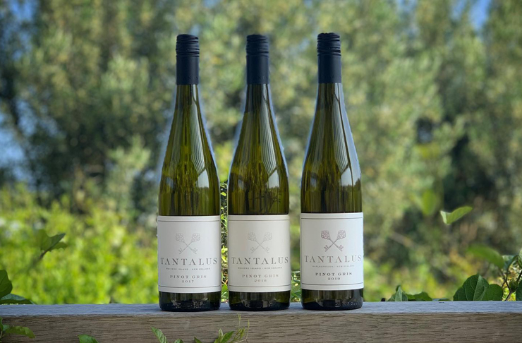 three bottles of Tantalus Estate