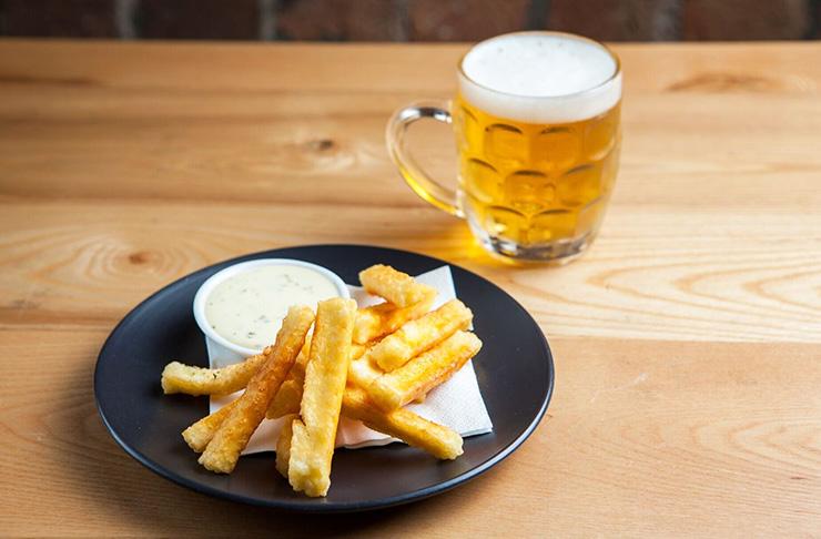 The APO, haloumi fries