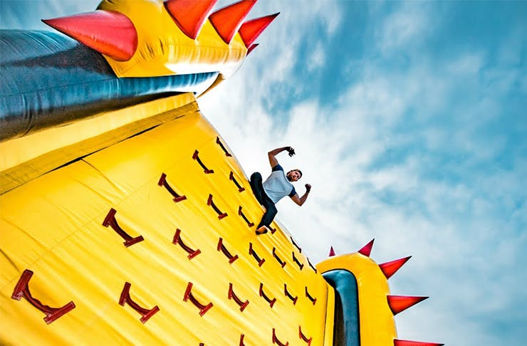 world's largest bouncy castle