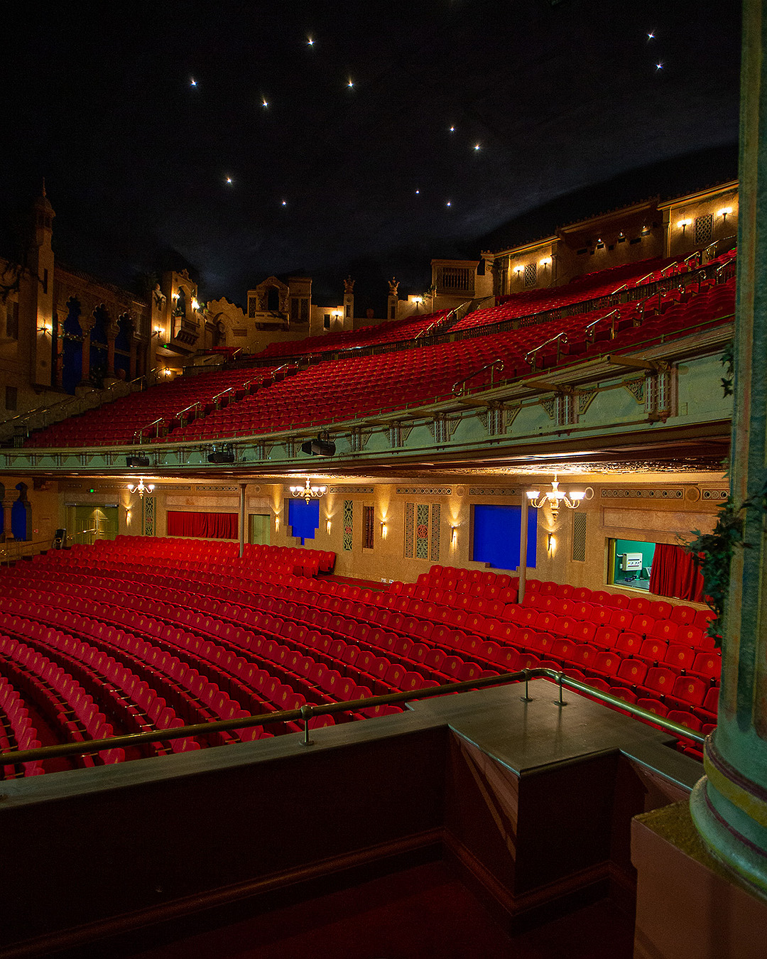 The interior of The Civic Theatre showing a canopy of stars overhead.