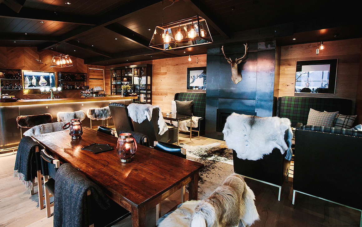 A view of the cosy furnishings at The Lodge Bar & Dining in Commercial Bay.
