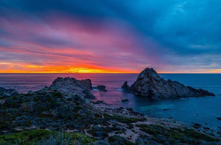 Sugarloaf Rock At Sunset