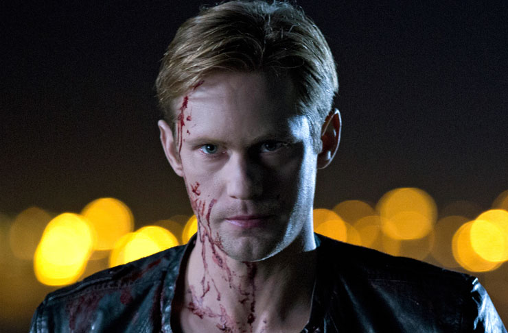 Vampire Eric covered in blood from the show True Blood