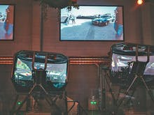 Drift Around The Track In A Virtual Racecar Simulator At This East Side Bar