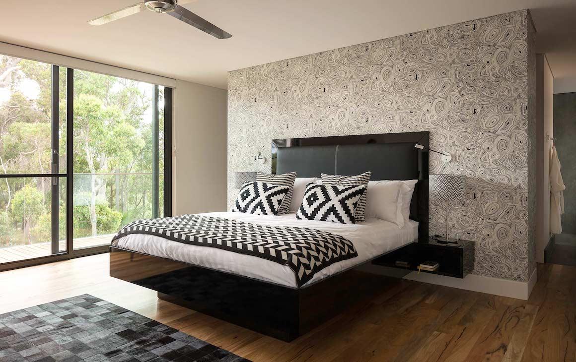 The master bedroom at Villa Gris