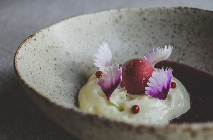Dessert from Voyager Estate's Degustation