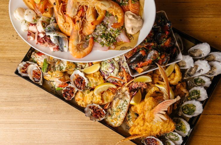 Double tiered seafood platter from Kailis Fremantle