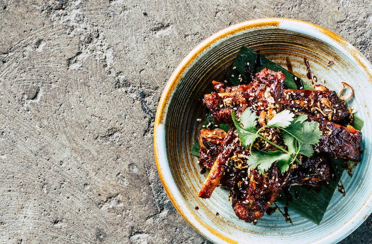 A bowl of sticky ribs from Emily Taylor eatery at Warders Hotel