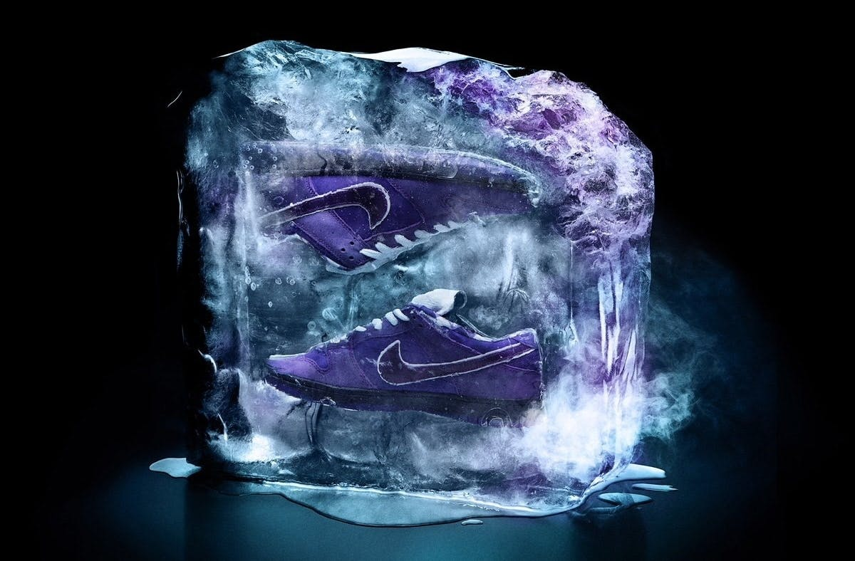 "Your First Look At The Nike X Concepts SB Dunk Low ""Purple Lobster"""
