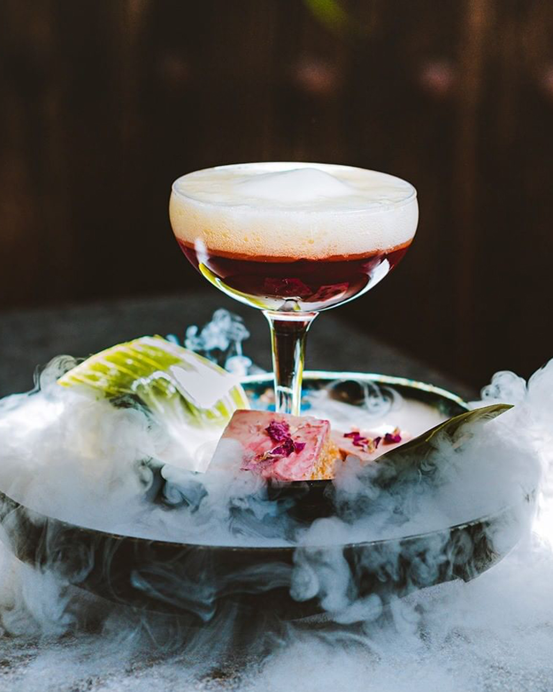 A smoking cocktail apart of Wellington On A Plate