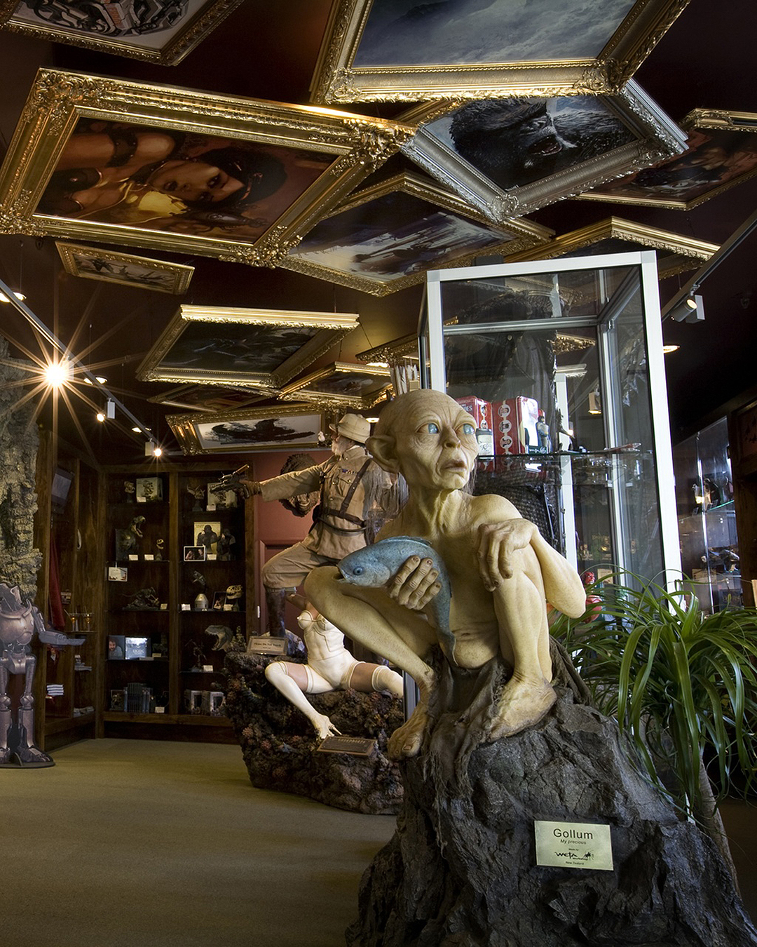Weta Cave in Wellington with Gollum in the foreground.