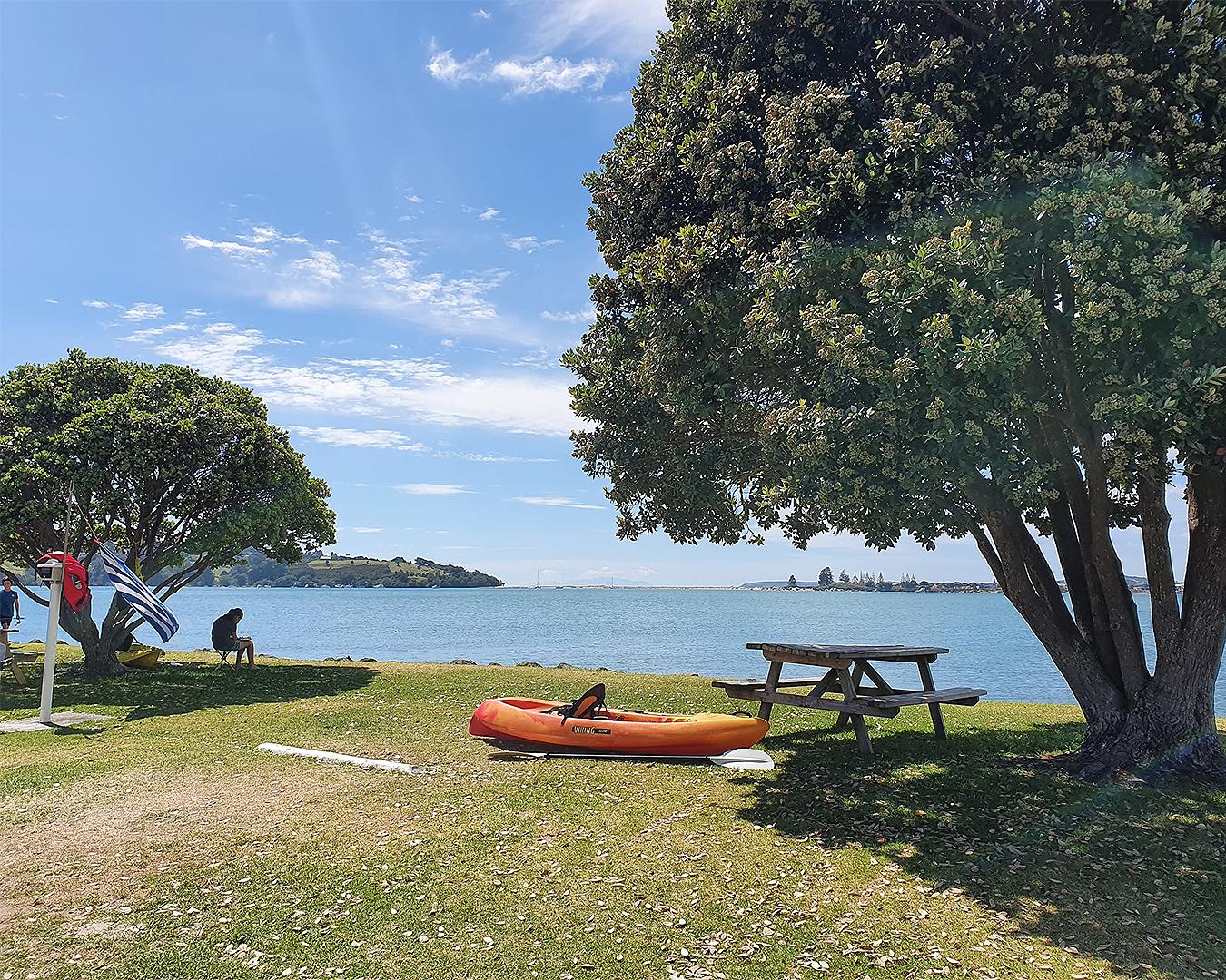 A beautiful day at Whangateau Bay.