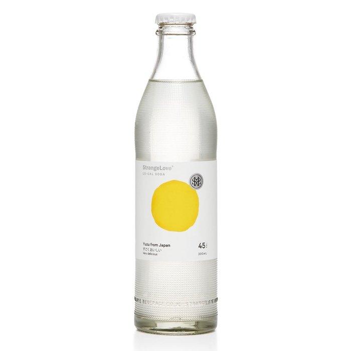 Bottle of Strange Love non-alcoholic yuzu drink
