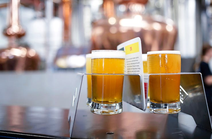 Beer paddle from Running With Thieves, one of Perth's best new breweries