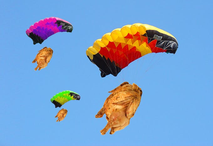 Belleville Is Parachuting Rotisserie Chicken From The Sky This Friday