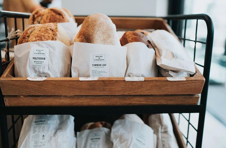 Fresh Bread at MRKT SPACE, one of Perth's cafes turned grocers