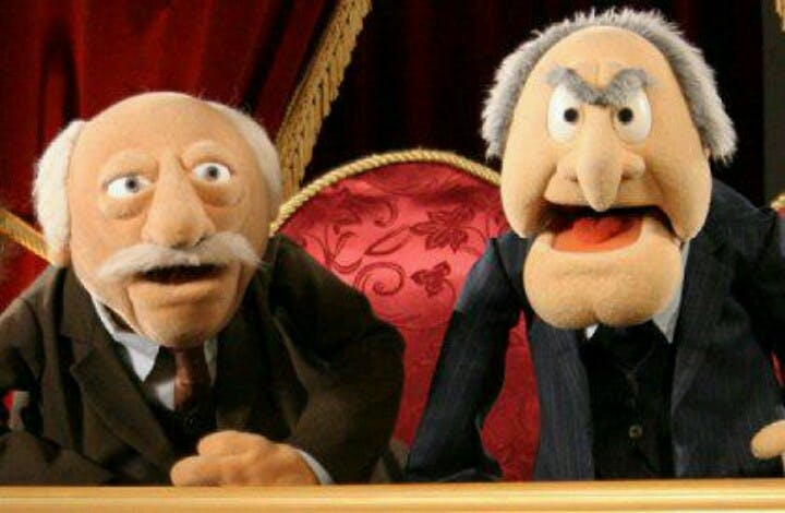 Image result for waldorf and statler