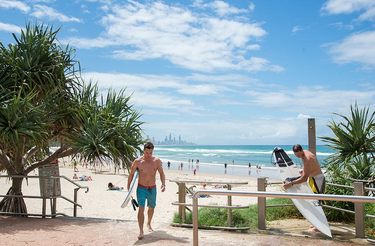 You Could Be Forgiven For Thinking The Gold Coast Is Just One Loooong Stretch Of Sand With Nothing But Rugged Good Looks Liuards To Mix Things Up