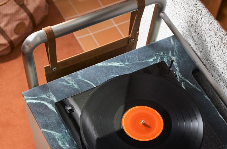 A turntable at Ace Hotel Sydney