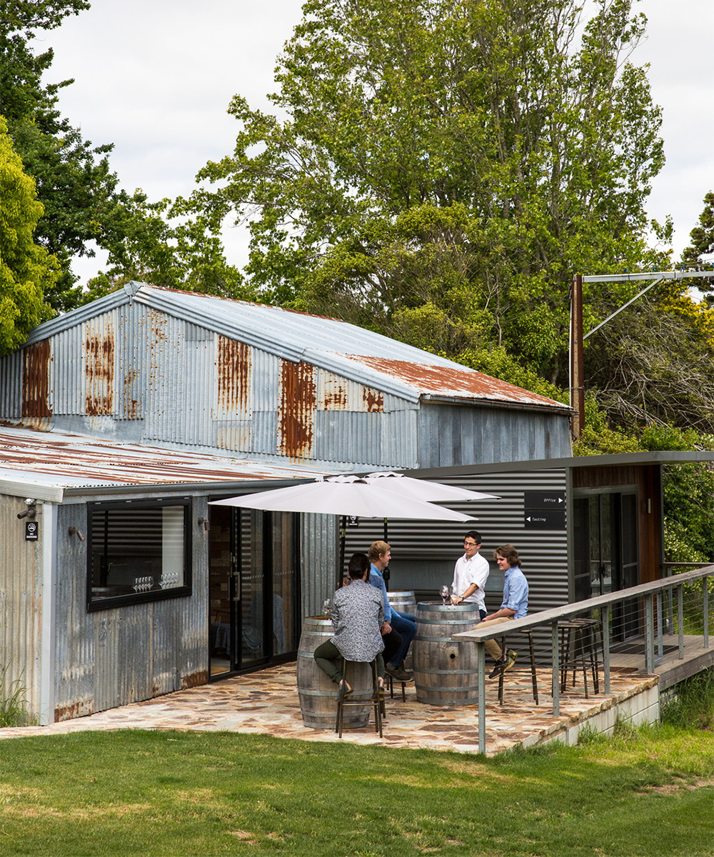 a winery with a shed tasting room
