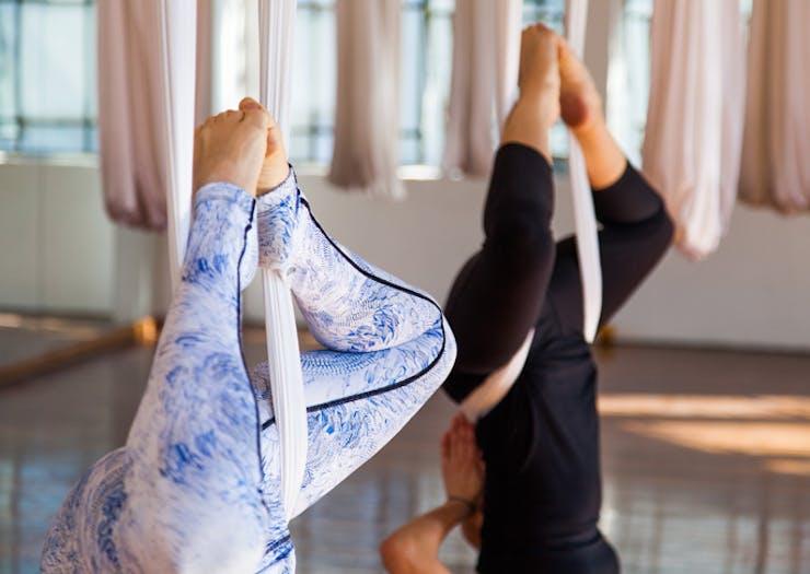 aerial yoga in Sydney Melbourne Perth Brisbane